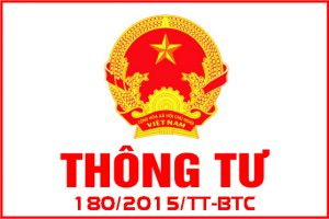 Nhận định về thông tư 180/2015/TT-BTC