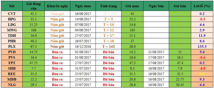 Danh mục đầu tư dm2108