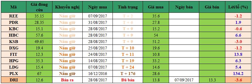 Danh mục đầu tư dm1109