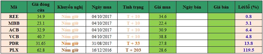 Danh mục đầu tư dm1810