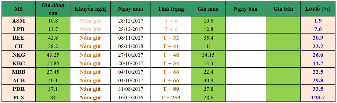 Danh mục đầu tư dm0901