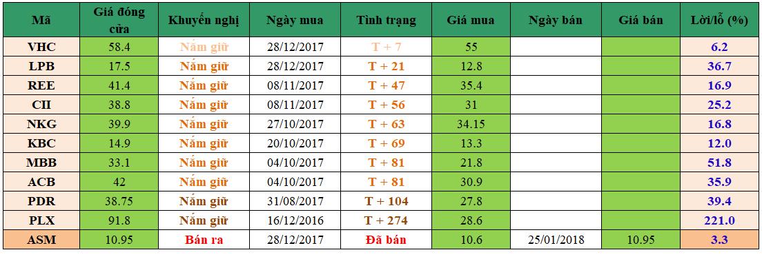 Danh mục đầu tư dm3001