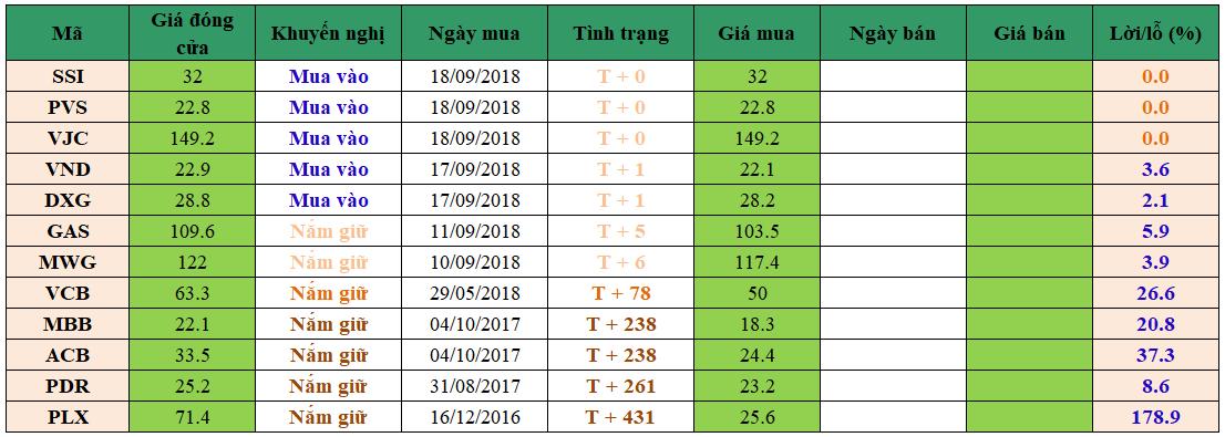 Danh mục đầu tư dm1809