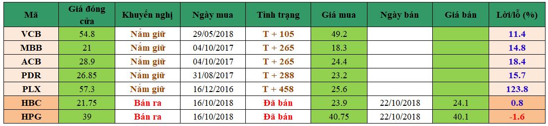 Danh mục đầu tư dm2510