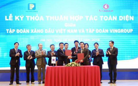 Petrolimex và Vingroup ký Thỏa thuận hợp tác toàn diện
