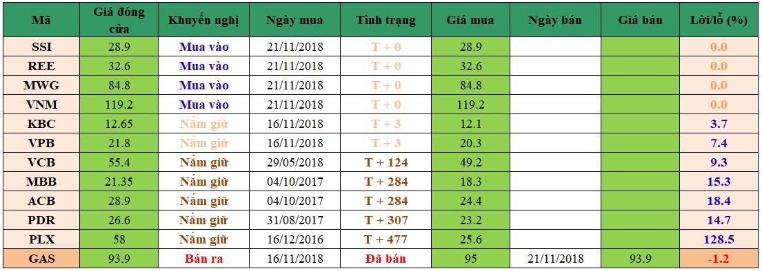 Danh mục đầu tư dm2111