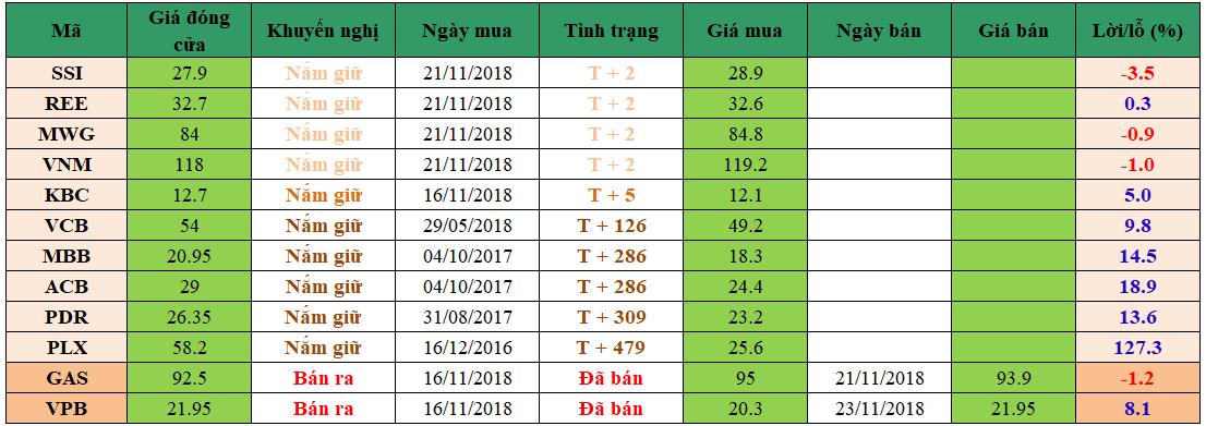 Danh mục đầu tư dm2311