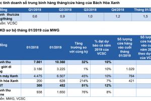 Đồ thị cổ phiếu MWG phiên giao dịch ngày 11/02/2019. Nguồn: AmiBroker
