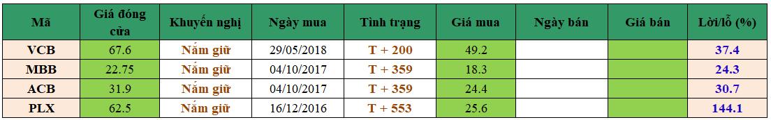 Danh mục đầu tư dm1803