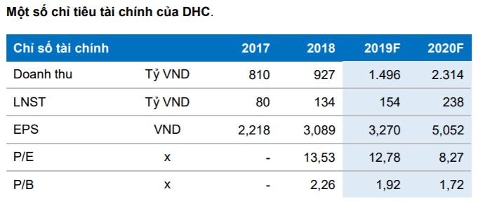 Cập nhật cổ phiếu DHC
