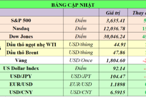 Cập nhật chứng khoán Mỹ, giá hàng hóa và USD phiên giao dịch ngày 24/11/2020