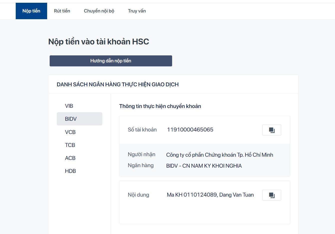 Hướng dẫn đăng nhập và sử dụng trang Web myhsc