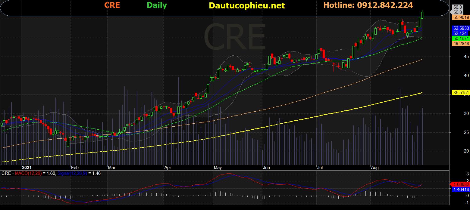 Cập nhật cổ phiếu CRE – Định giá đã ở mức hợp lý