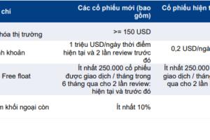 Cập nhật chỉ số – Kết quả review chỉ số MVIS Vietnam Q3/2021