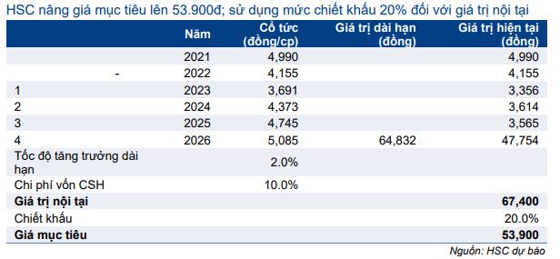 Bảng 10: Định giá DDM, VEA